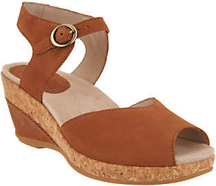 Dansko Leather or Suede Wedge Sandals -Charlotte