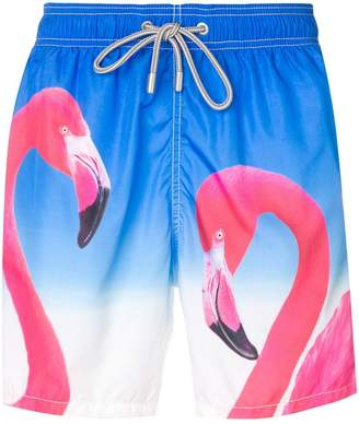 MC2 Saint Barth Barbados flamingo swim shorts