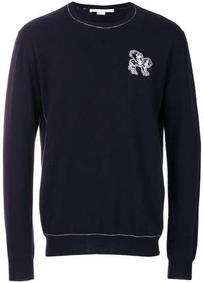 Stella McCartney fantasy animal embroidered sweater