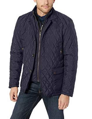 LN LUCIANO NATAZZI Men's Quilted Double Knit Collar Jacket