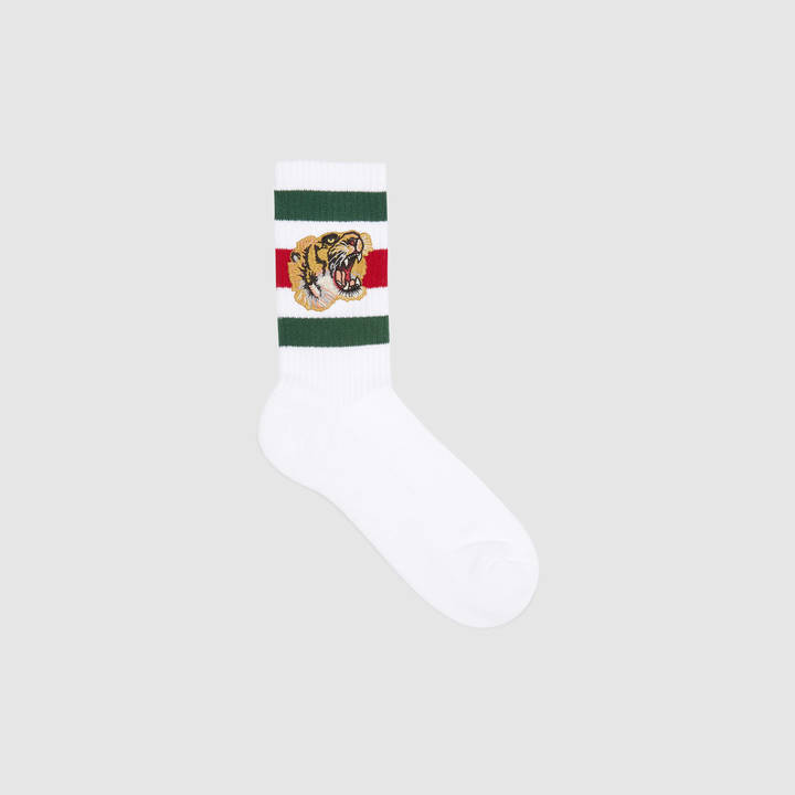 Stretch cotton socks with tiger 3