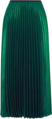 Pleated Midi Skirt Shopstyle Uk