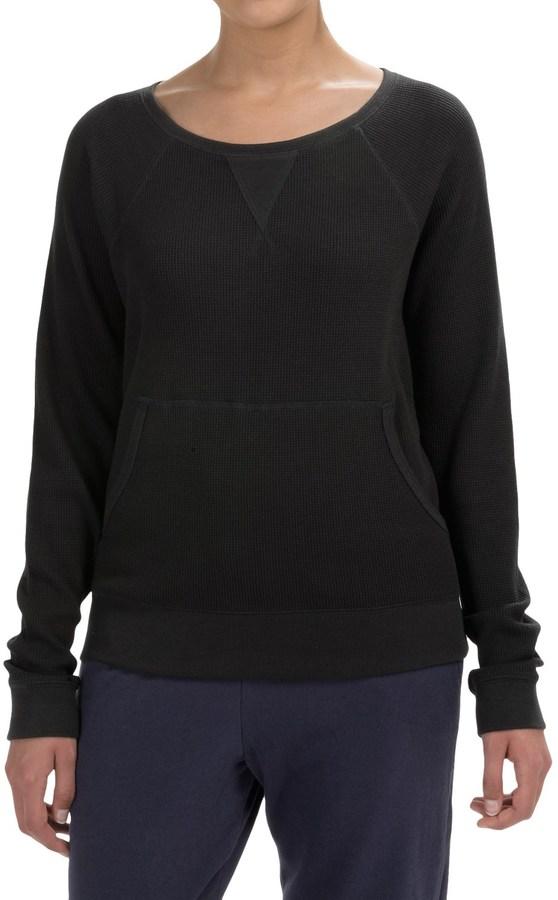 Yummie Tummie Boat Neck Pullover Shirt - Pima Cotton-Modal, Long Sleeve (For Women)