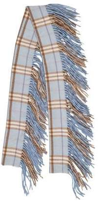 Burberry Happy Cashmere Fringe-Trimmed Scarf