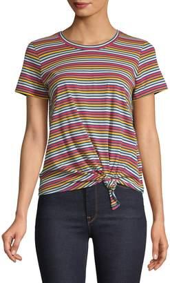Madewell Rainbow Striped Cotton Tee