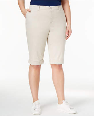 Style&Co. Style & Co Plus Size Cuffed Bermuda Shorts, Created for Macy's