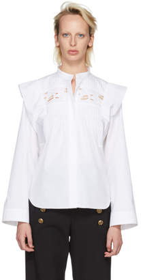 Chloé White Ruffle Shirt