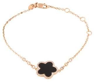 Meira T 14K Diamond & Onyx Link Bracelet