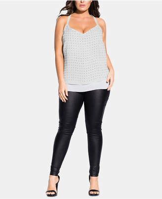 4ce5cd81402 City Chic Trendy Plus Size Embellished Top
