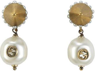 1cc951efcda Gucci Interlocking G pearl pendant earrings