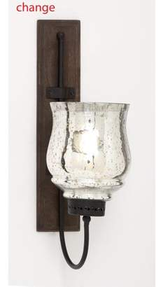 Benzara Metal And Wood Candle Sconce With Sturdy Construction
