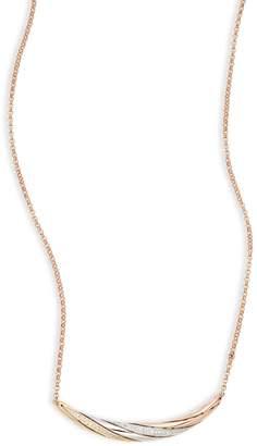 Effy 14K Tri-Tone Gold, 0.13 CT. T.W. Diamond Bar Necklace