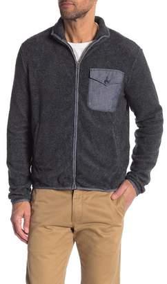Save Khaki Berber Faux Shearling Jacket