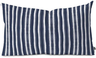 Deny Designs Emanuela Carratoni Indigo Style Oblong Throw Pillow
