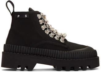 Proenza Schouler Black Lug Sole Boots