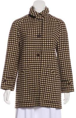 Ralph Lauren Purple Label Wool Gingham Coat