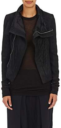 Rick Owens Women's Blistered-Leather Naska Biker Jacket $2,355 thestylecure.com