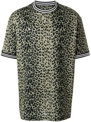 Les Hommes leopard print T-shirt