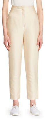The Row Vivienne Silk Straight-Leg Pants