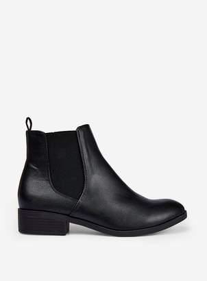Dorothy Perkins Womens Black Pu 'Morgan' Chelsea Boots