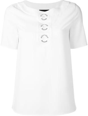 Moschino logo button T-shirt