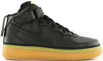 Nike Force 1 Mid Black Gum Volt (GS)