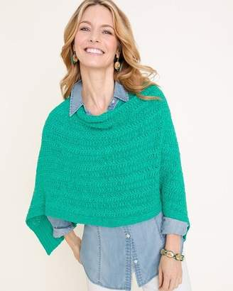 Chico's Chicos Tape Yarn Poncho