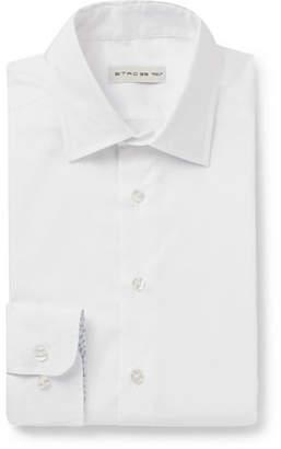 White Slim-Fit Cotton Oxford Shirt
