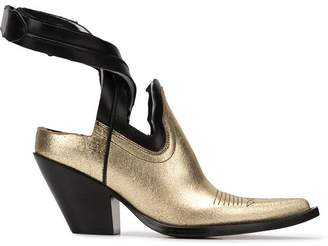 Maison Margiela gold pointed boots