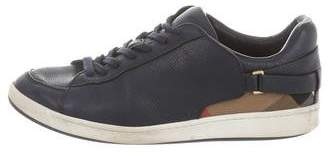 Burberry Round-Toe Low-Top Sneakers