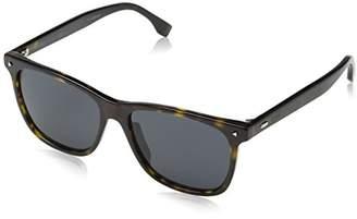 Fendi Men's FF M0002/S IR 086 Sunglasses, Dark Havana Grey
