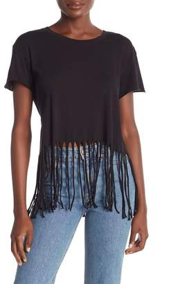 Wildfox Couture Ryder Short Sleeve Fringe Tee