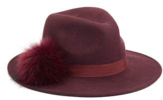 BP Faux Fur Pompom Fedora