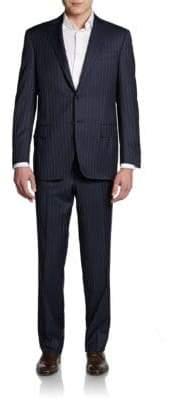 Saks Fifth Avenue BLACK Slim-Fit Pinstriped Wool Suit