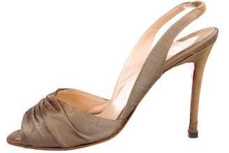 Christian Louboutin Canvas Slingback Sandals