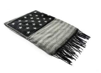 JOYHY Unisex Flag Camouflage Winter Warm Scarf Vintage Shawl Black USA Flag