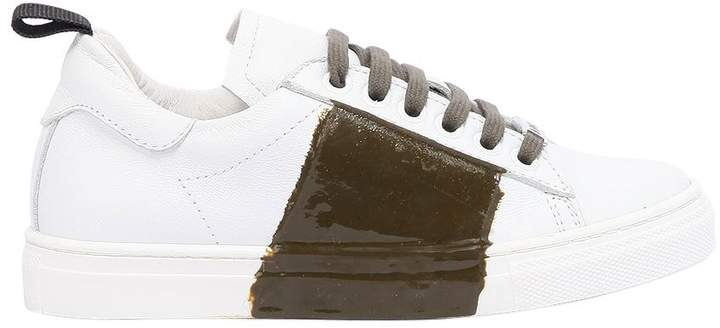 Am 66 Rubber Stripe Two Tone Leather Sneakers