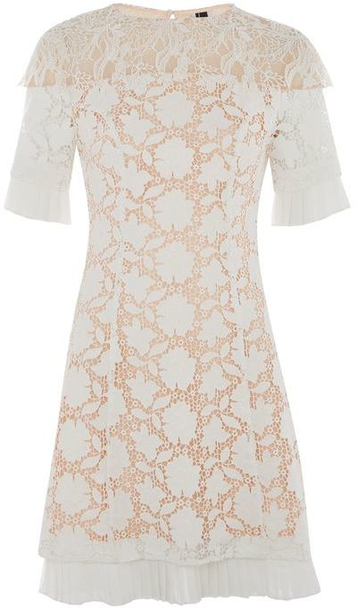 Topshop Topshop Lace cap sleeve dress