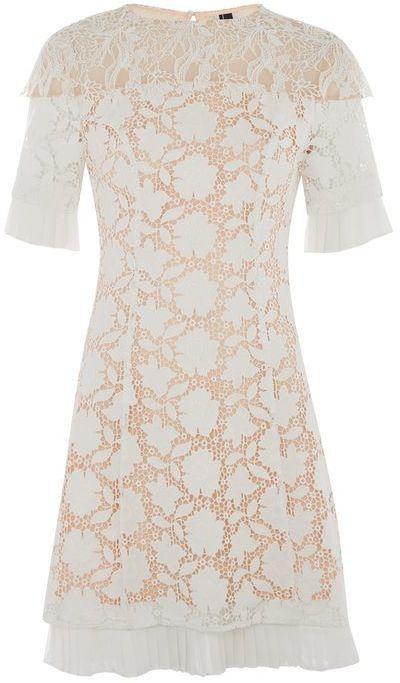 TopshopTopshop Lace cap sleeve dress