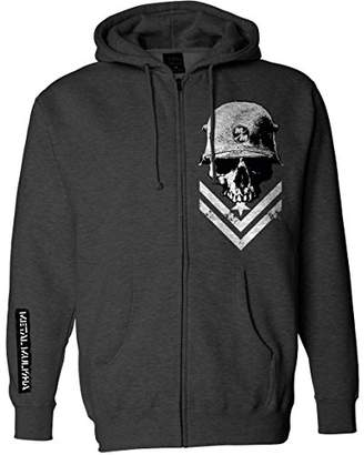 Metal Mulisha Men's Zip Fleece Hooded Sweatshirt