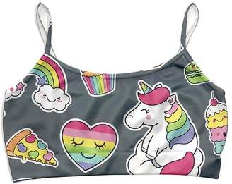 Malibu Sugar Heart Unicorns Top