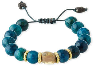 Armenta Old World Apatite & Opal Bead Pull-Through Bracelet