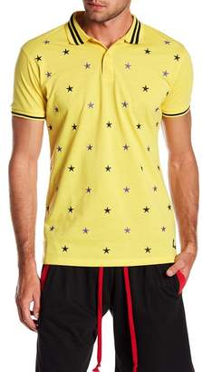 American Stitch Embroidered Star Short Sleeve Polo