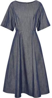 Derek Lam Cutout Denim Midi Dress