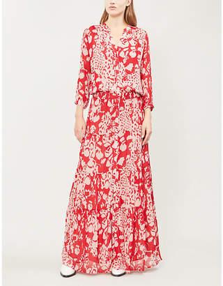 BA&SH Blake crepe-chiffon maxi dress
