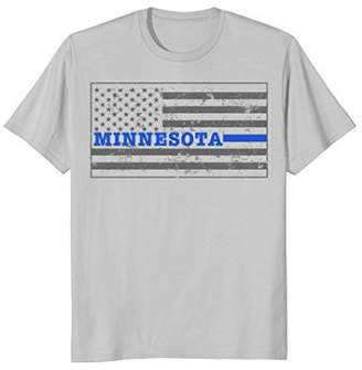 Minnesota Police Shirt Thin Blue Line Flag Shirt