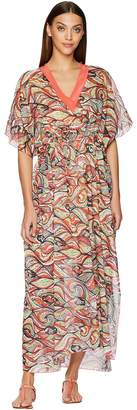 M Missoni Mermaid Print Caftan Long Dress Women's Dress