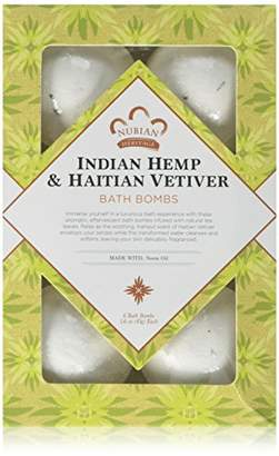 Nubian Heritage Indian Hemp & Haitian Vetiver Bubble Bath Bomb