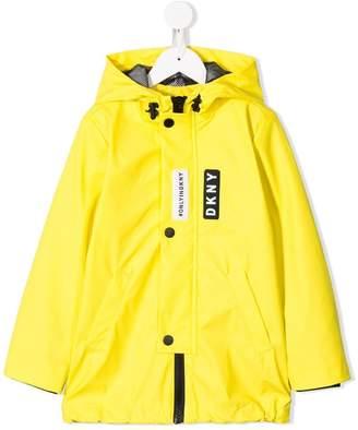 DKNY hooded raincoat