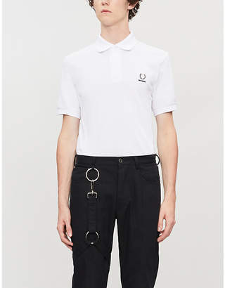 Fred Perry plaque-embellished cotton polo shirt